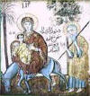 Icon of the Flight to Egypt, Al Muallaqah Church, Old Cairo